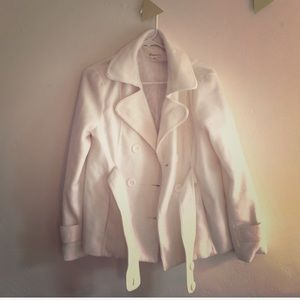 White Peacoat with Lining from F21